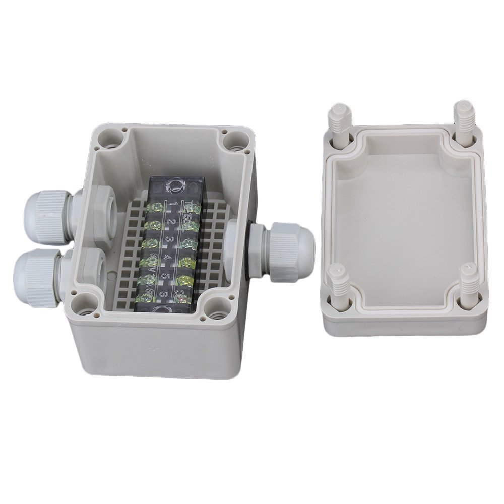 Bqlzr Gray White Plastic Junction Waterproof Square Electric Box Industrial Electrical With 6 Position Terminals Bqlzrn08861 Scientific