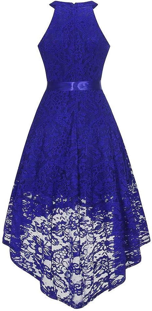 GOWOM Womens Sleeveless Formal Ladies Wedding Bridesmaid Lace Long Dress