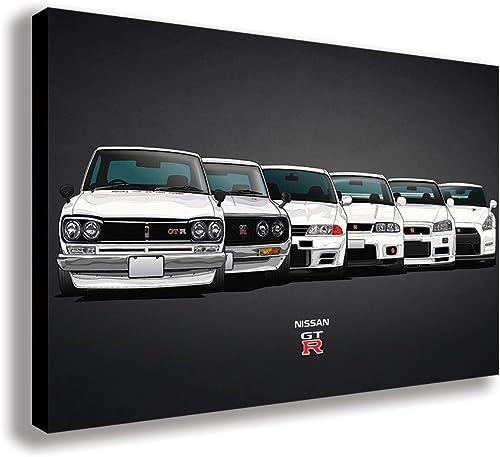 Nissan Skyline GT R Evolution Canvas Wall Art 44 X 26 / 110 X 65cm