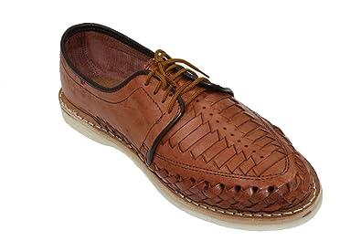 1a62bacfab76 Men Genuine Leather Mexican huraches Laces up Sandal Cognac-6