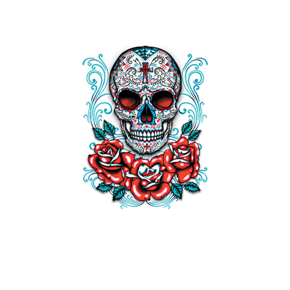Skull Roses Cross Womens T-shirt XS-3XL