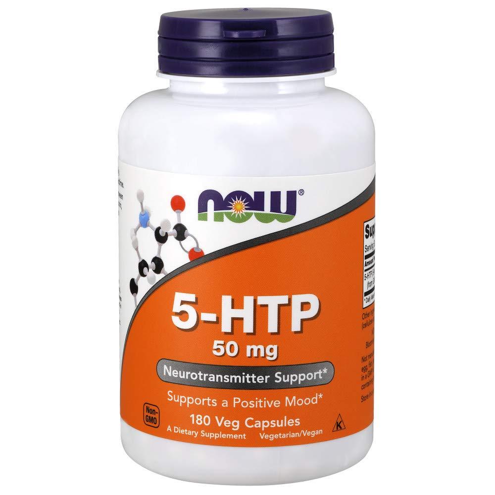 NOW® 5-HTP, 50 mg, 180 Veg Caps