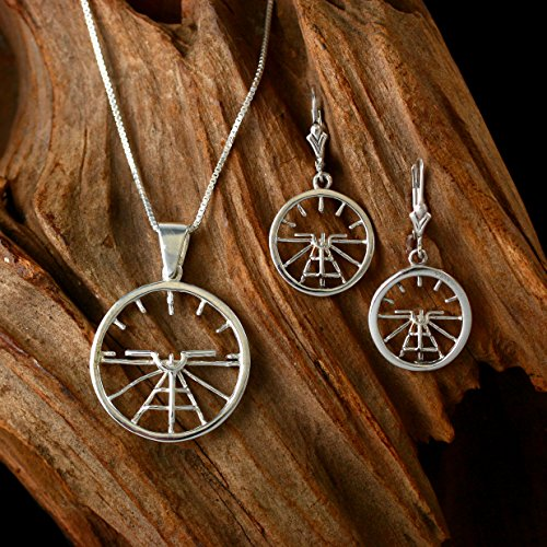 Artificial Horizon Necklace and Earring Set