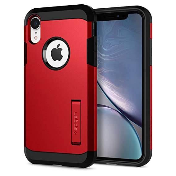 on sale aa033 51360 Spigen Tough Armor Designed for Apple iPhone XR Case (2018) - Red