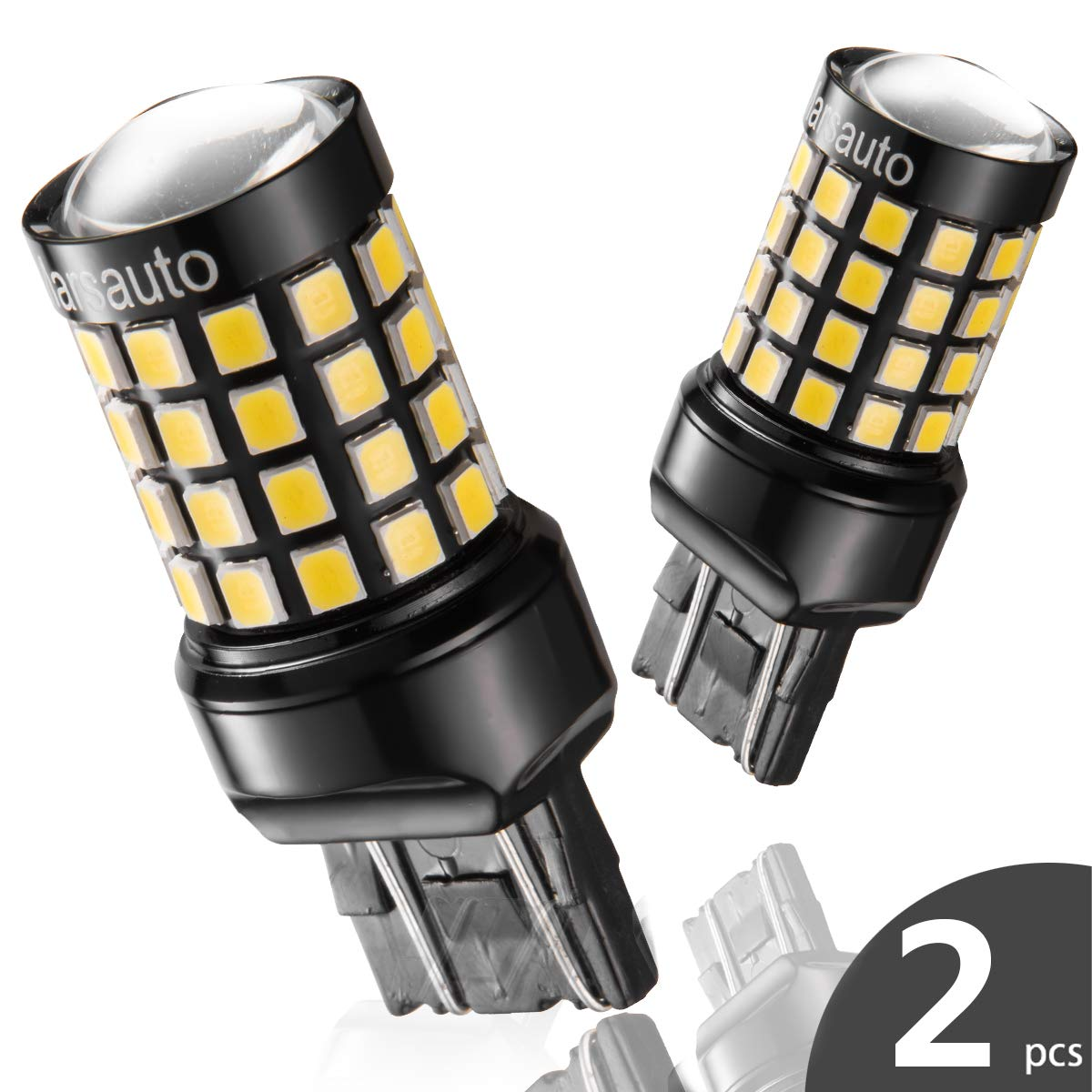 7443 7440 T20 LED Reverse Backup Bulb Extremely Bright, [2018 UPGRADED]  Marsauto 52 SMD 3030/2835 Chipsets Back up Stop Tail Light Lamp Bulbs
