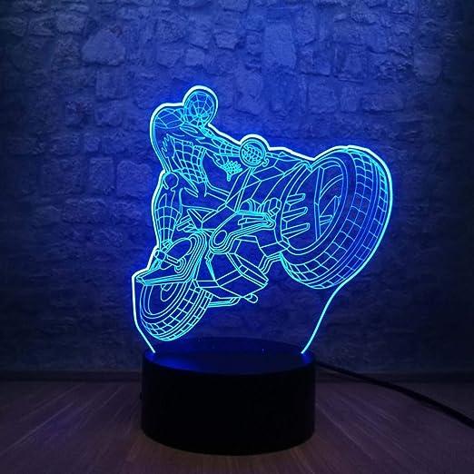 wangZJ lámpara de escritorio de mesa de ilusión óptica 3d ...