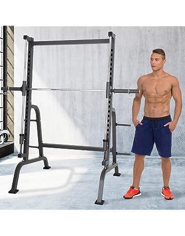 Physionics Estacićon de Fitness | 4 Soportes para Pesas, 192/116/204 cm