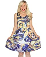 Her Universe womens Doctor Who Exploding Tardis Dress X-Small
