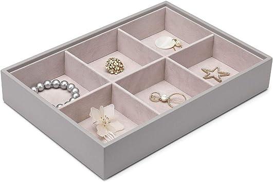 8 Stück Schmuck Tablett Schubladeneinsatz Display Show Case Halskette