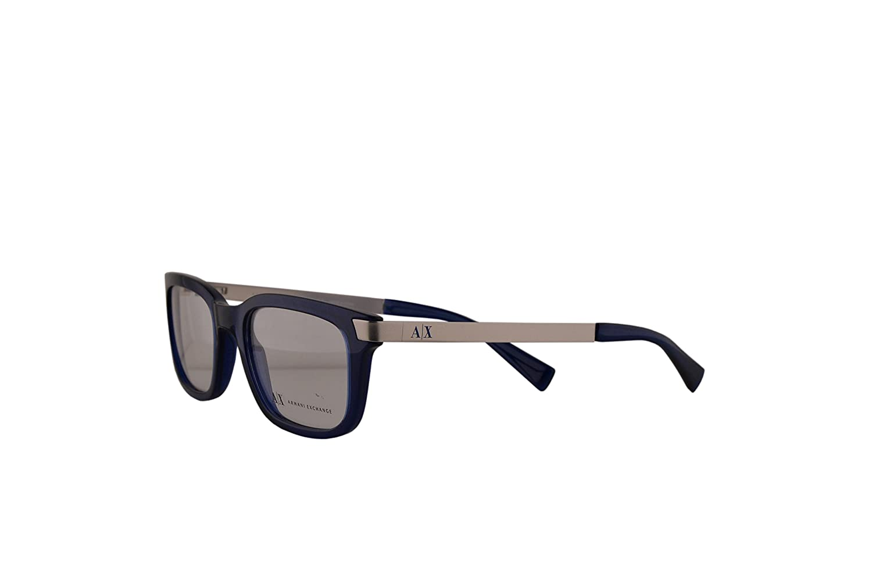 2da0e8071575 Armani Exchange AX3010 Eyeglasses 52-18-140 Ultramarine Transparent w Demo  Clear Lens 8064 AX 3010  Amazon.co.uk  Clothing