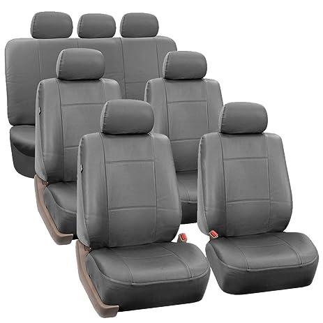 Amazon FH GROUP FH PU002 1217 3 Row PU Leather Car Seat