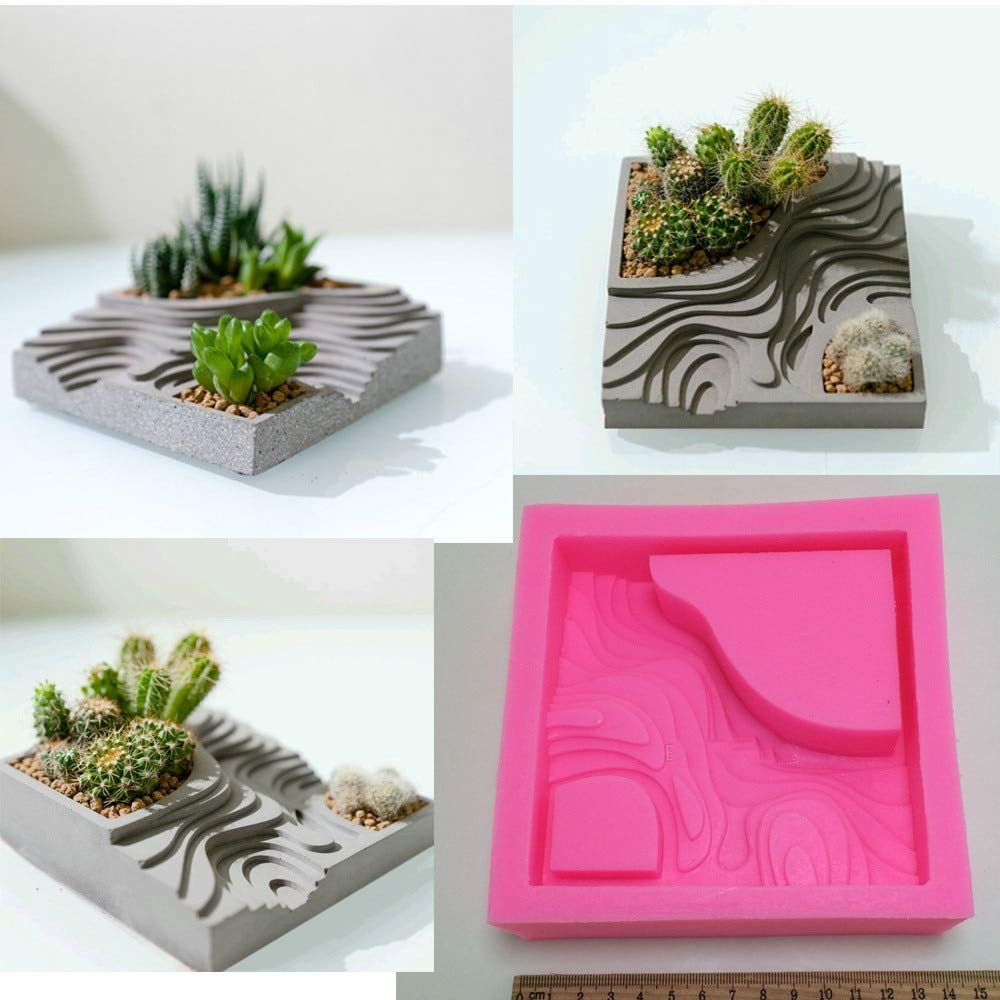 Mold - Concrete Craft Planter Mold Cactus Pot Handmade Clay Cement Vase Silicone Mould - Letter Pottery Sword People Body Goddess Wings Baby Hands Glass Bowl Kids Skull Making Molds Angel W by M. BAMBOOBY (Image #1)