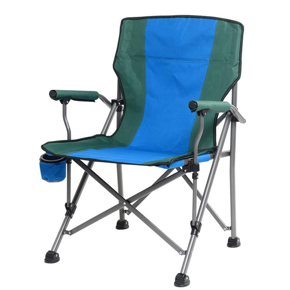 アウトドア 折り畳み式 キャンプチェア バーベキュービーチチェア 釣り用スツール、 旅行 ピクニック スケッチ、 56 * 60 * 93CM,Blue  Blue B07J1W13MQ