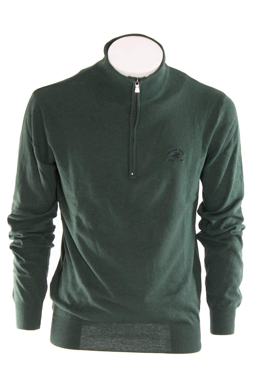 - Beverly Hills Polo Club Men's BHPC2261GREEN Green Wool Sweater