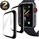 Screen Protector for Apple Watch 40mm Series 5/4, [2 pack] Max Coverage Anti-Scratch Bubble-Free with Black Edge 3D…