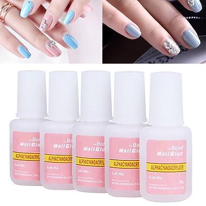 Pegamento de uñas, favolook Super fuerte Bond pegamento adhesivo – perfecto para la punta para acrílico postizas naturales, dimonties, brillantes, ...