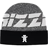 Grizzly Jumbotron Ribbed BEANIE - Heather Grey/White/Black