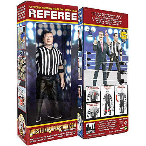 3 Counting and Talking Wrestling Referee Action Figure by Figures Toy Company