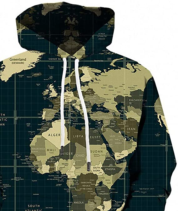 DERLONKAJE Mens Black AR-15 Come and Take It Hooded Hoodie Casual Pullover Sweatshirt