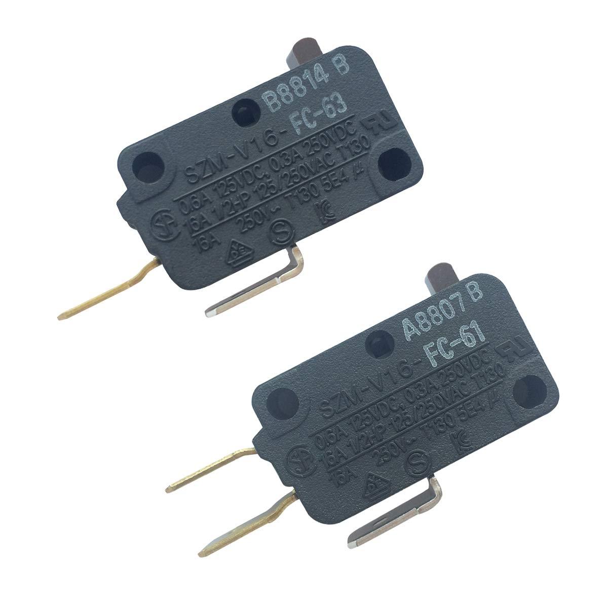 LONYE 28QBP0495&28QBP0497 Microwave Oven Door Switch for Whirlpool Microwave SZM-V16-FC-61 SZM-V16-FC-63