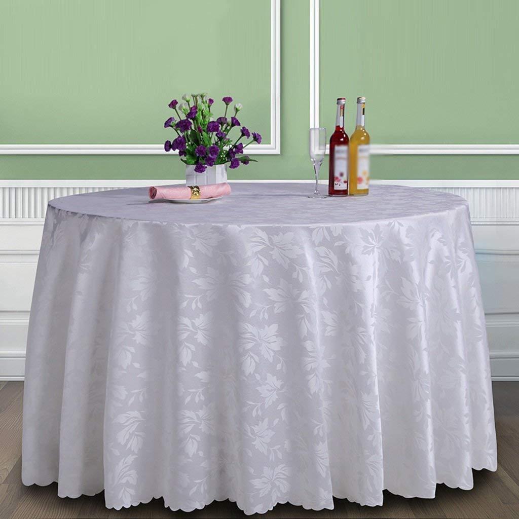Shuangdeng 家庭用テーブルクロス、コーヒーテーブルテーブルクロス、テーブルクロス大きな丸い正方形のレストランのテーブルクロスコーヒーテーブルのダイニングテーブルのホテルはカスタマイズ可能なサイズオプション、レストランのテーブルクロス (Color : Round-280cm, サイズ : F) F Round-280cm B07R9PXG35
