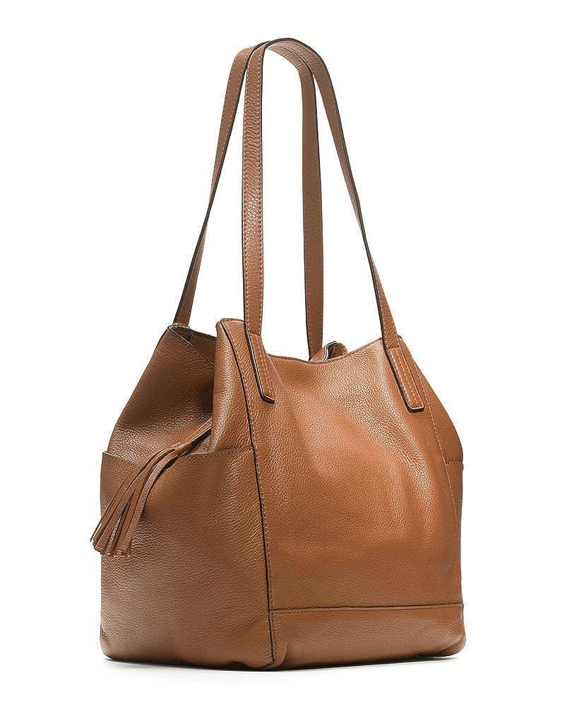 e2435fda1717 Michael Kors Ashbury Large Leather Shoulder Bag in Acorn  Handbags   Amazon.com