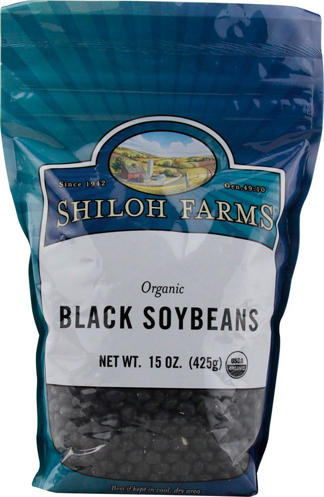 Shiloh Farms: Black Soybeans 15 Oz (6 Pack)