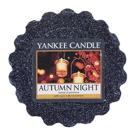 YANKEE CANDLE Bougie parfumée Autumn Night en Forme de tartelette 1510133E