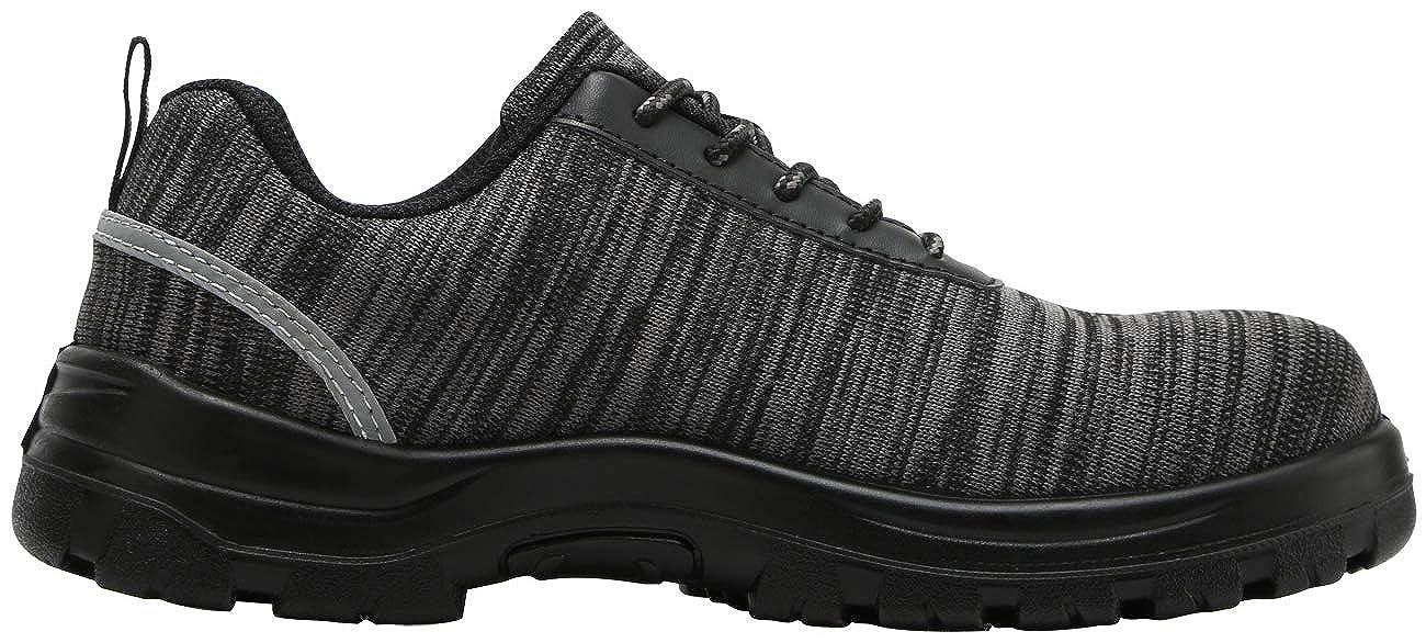 Zapatos de Seguridad Hombres LM-30 Zapatillas de Trabajo con Punta de Acero Ultra Liviano Reflectivo Transpirable