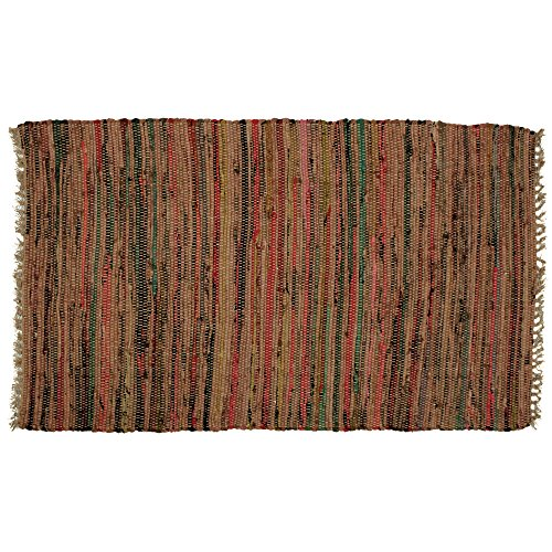 Hand Woven Country Rag Rugs in Spice, 2 x (Hand Woven Rag Rugs)