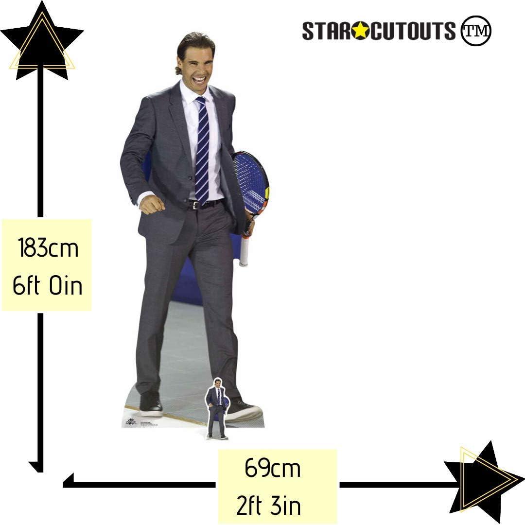 183/cm Star Einbau/öffnungen cs672/Life Gr/ö/ße Cut Out von Rafael Nadal mit gratis Mini Tisch Top