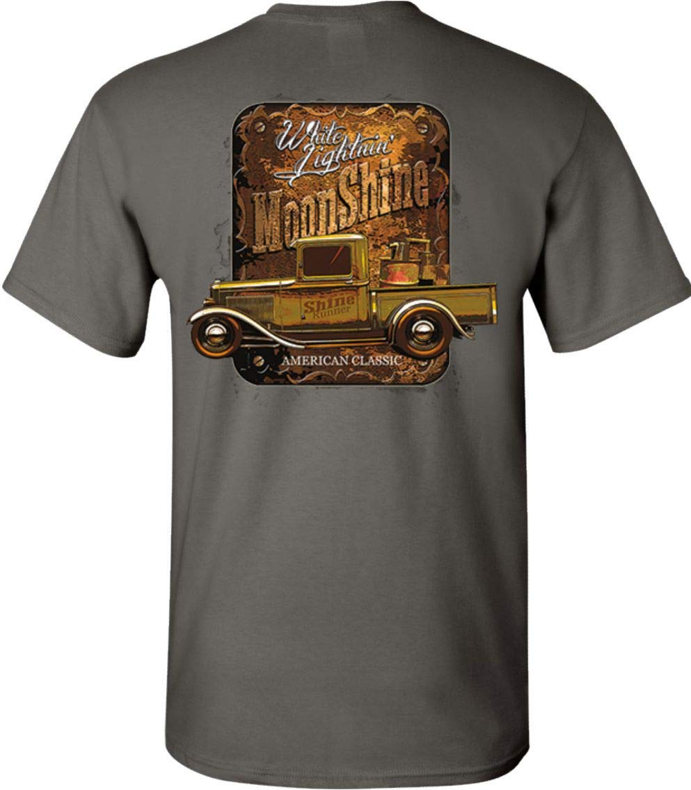 Lightning Moonshine Rt 66 Hot Rod T Shirt Tee 2426