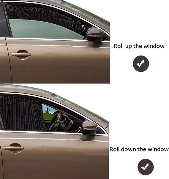 versi/ón actualizada cortina magn/ética universal para coche para beb/és y ni/ños plegable paquete de 2 Parasol para ventana lateral para coche frontal