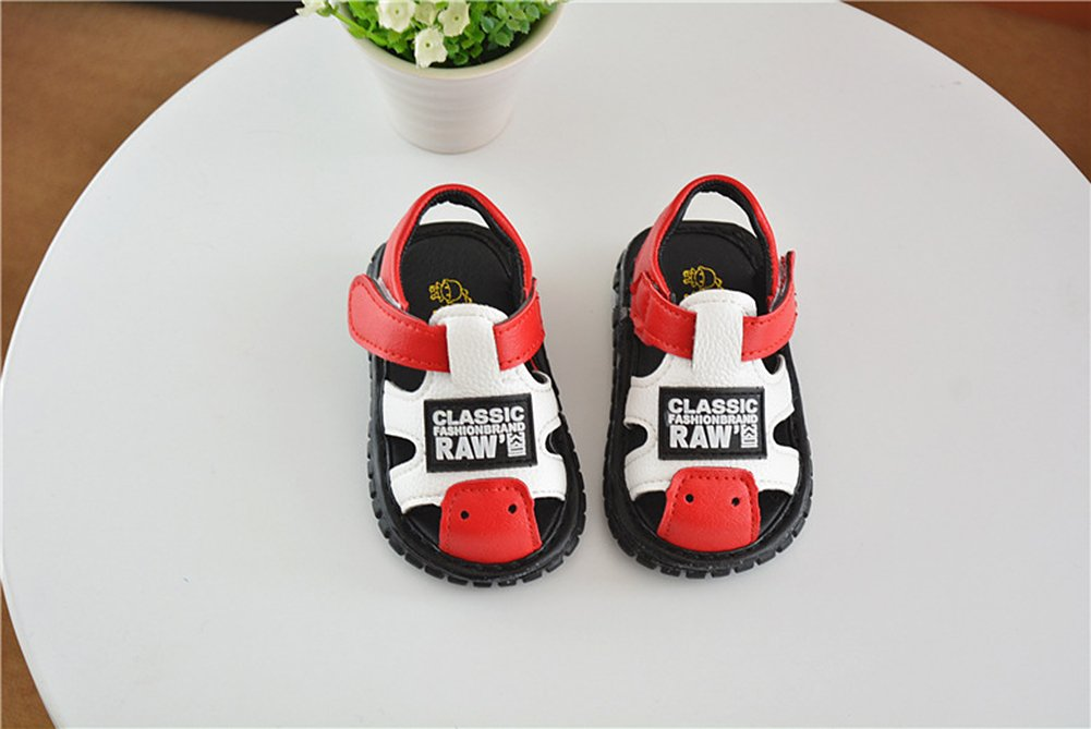 Robasiom Baby Squeaky Shoes Squeaky Sandals Anti-Slip First Walkers for Toddler Boys Girls,Red by Robasoim (Image #2)