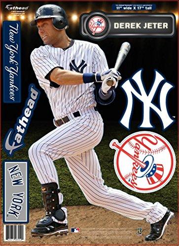 FATHEAD MLB New York Yankees Derek Jeter Teammate Wall Decal, 11 x 17-Inch, Blue