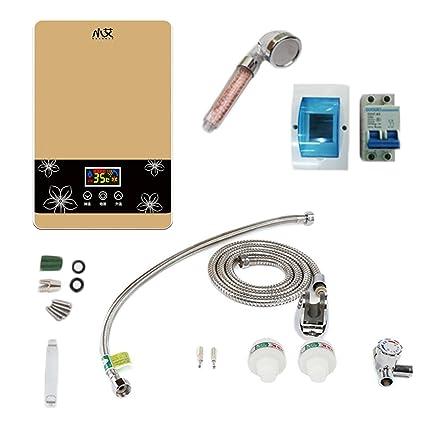 Inversor Calentador de agua a temperatura constante Grifo de ducha de ducha CPU 7500W (Color