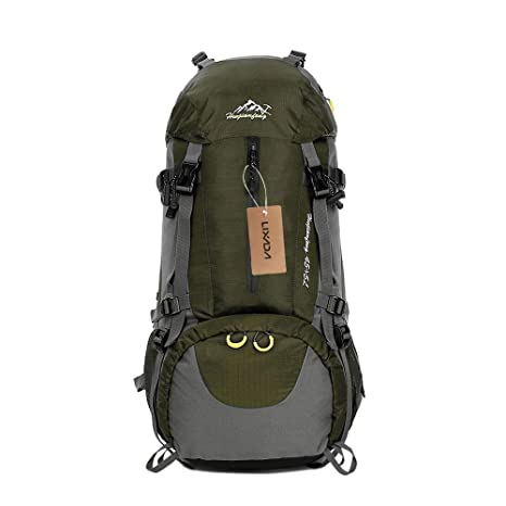 Image Unavailable. Image not available for. Color  Lixada Hiking Backpack  50L Waterproof Travel Camping Daypack Trekking Backpack with Rain Cover ee85e30ab1b12
