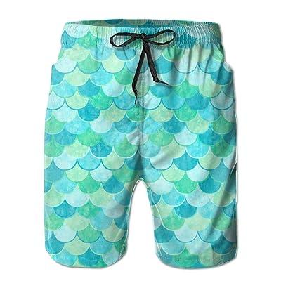 Ruin Beach Shorts Mermaid Mode Men's Fashion Board Shorts Men's Sleep Quick Dry Swim Trunks Beach Shorts
