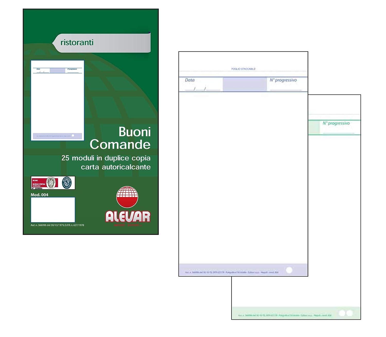 Blocchi Comande 2 Copie 25 Moduli Formato cm 10x17 Conf. da 10 Blocchi Alevar 3760/2