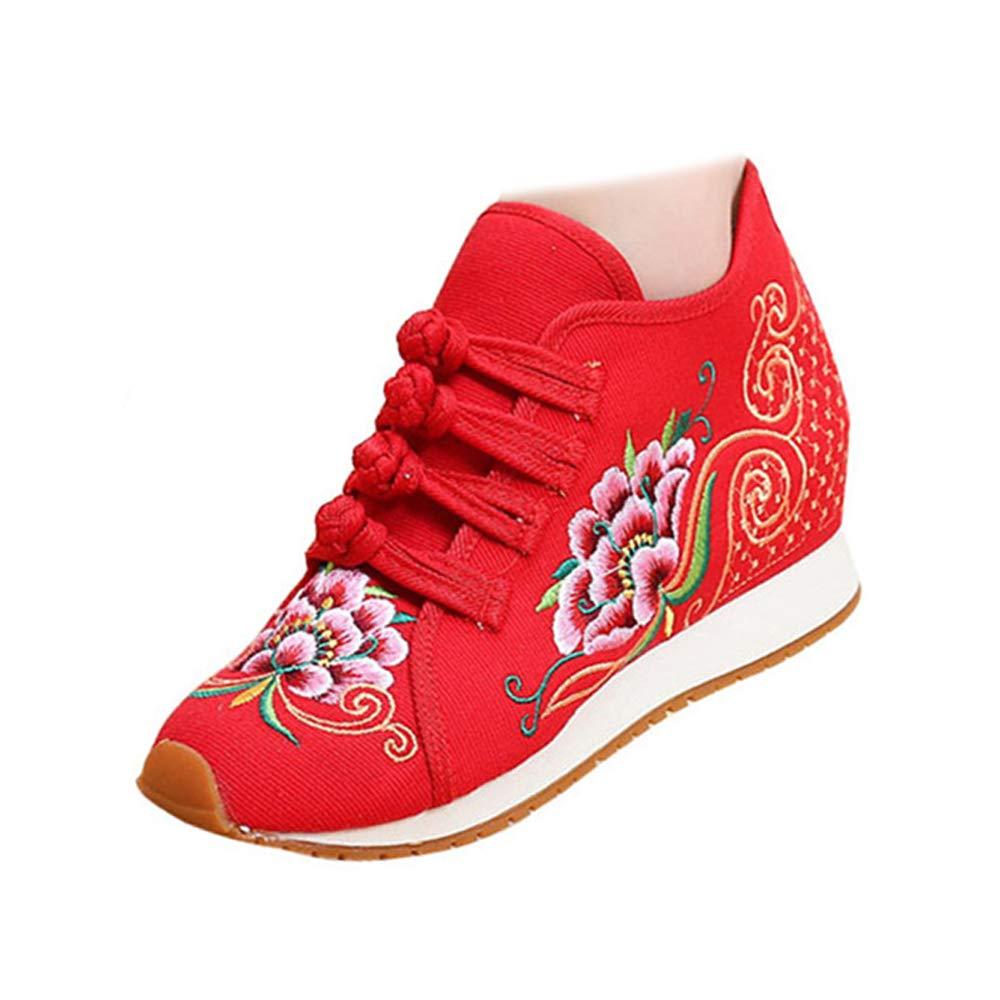 Chaussures 19998 de de Broderie de Fleurs B06XJ3YMC8 de Style Chinois Rouge-shortplush 98f72be - boatplans.space
