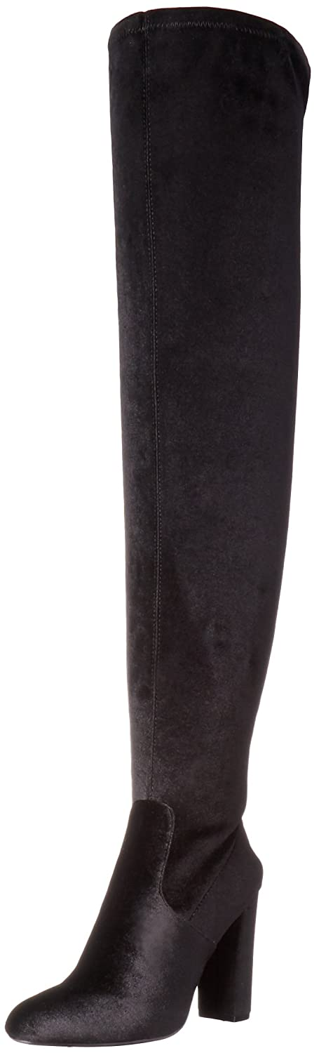 Steve Madden Women's Emotions Over The Knee Boot B01KK0179W 6 B(M) US|Black Velvet