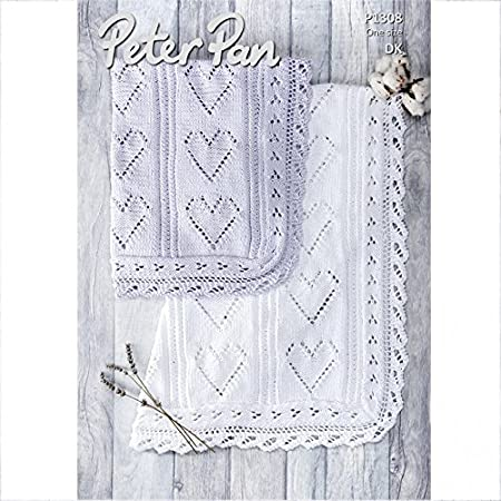 Peter Pan Baby Blanket.Peter Pan Baby Blanket Baby Cotton Knitting Pattern 1308 Dk
