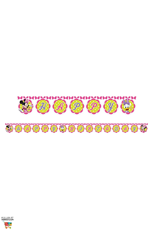 Disney Geburtstagswimpel, Minnie-Mouse-Design, 2,2m 2m Procos S.A. 71267