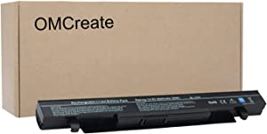 OMCreate Battery Compatible with ASUS A41-X550A A41-X550 X450 X550 R510C F450 K550 A450-12 Months Warranty [Li-ion 4-Cell]