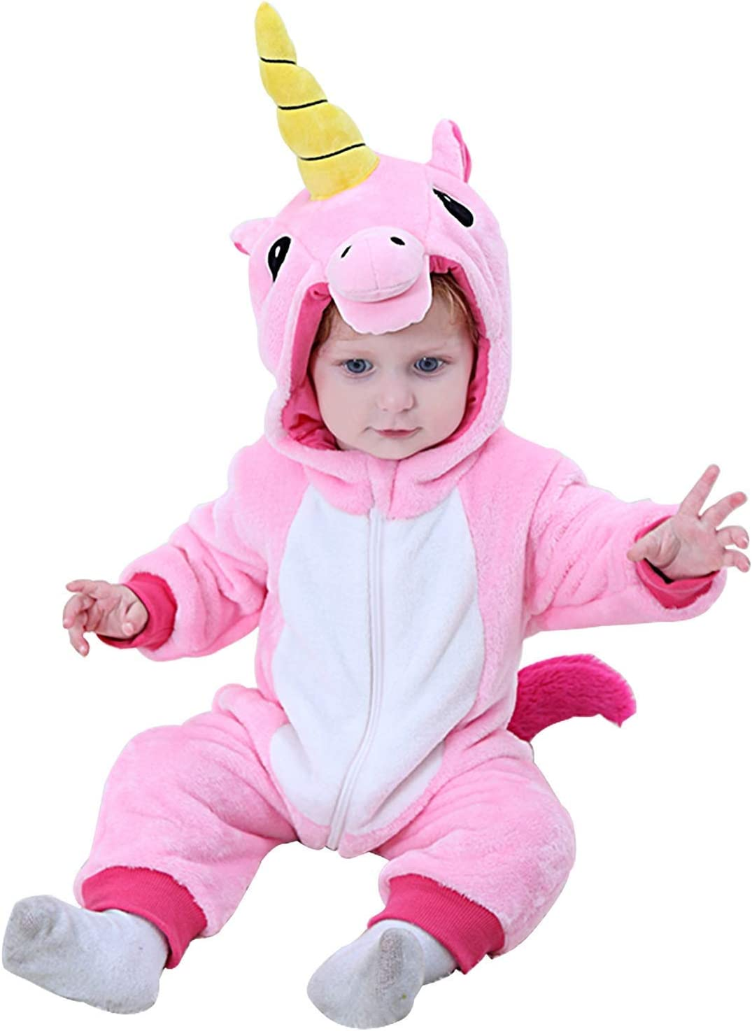 Camlinbo Halloween Costume Baby Infant Lion Cosplay Romper Toddler Wild Animals/' King Dress up Outfit 0-24 Months