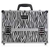 zebra hair dryer - SHANY Essential Pro Makeup Train Case with Shoulder Strap and Locks - Zebra