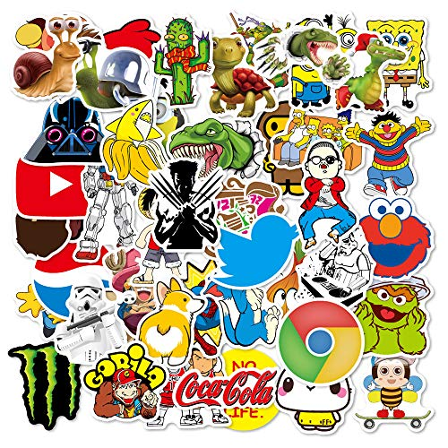 DIY House Laptop Car Stickers 100 Pcs,Graffiti Stickers Pack for Car, Laptop, Skateboard, Luggage, Adults Waterproof Vinyl Stickers Car Decals Laptop Skins Brand Bumper Stickers Bomb for Motorcycle