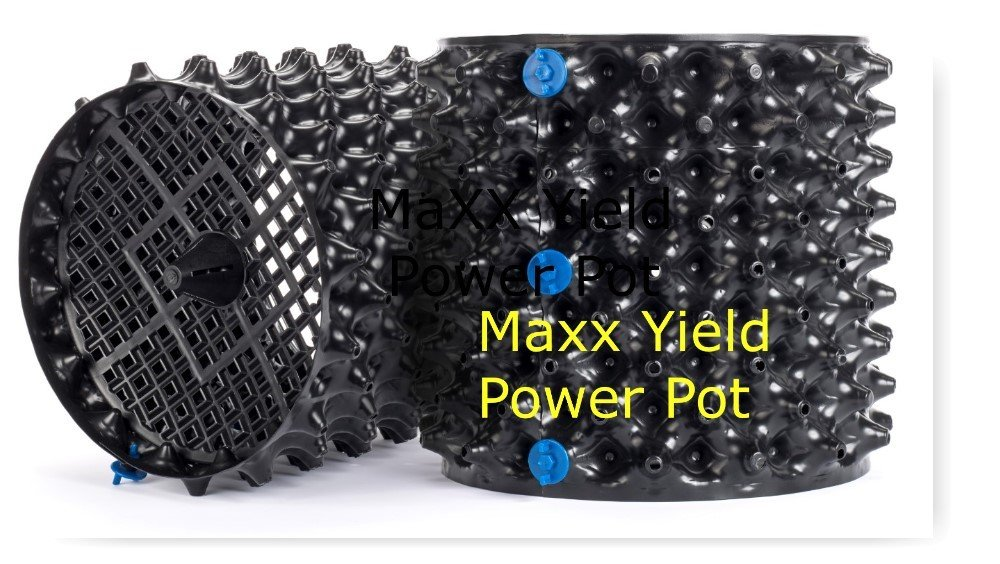 MaXX Yield ''Power Pot'' 6 PACK! of 3 Gallon Equivalent Air Root Pruning Flower Pots