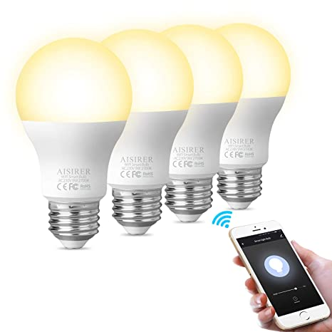 Smart Light Bulb WiFi LED Light Bulbs Compatible with Amazon Alexa