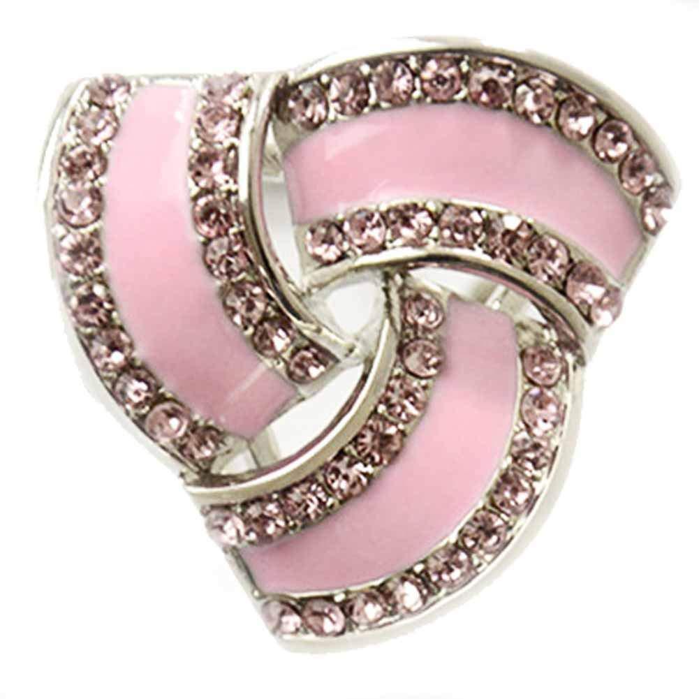 SIYWINA Fashion Scarf Ring Buckle Scarf Clip Triple Slide Jewelry Shiny Clothing